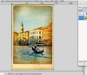 Adding Text in a Photo in GIMP