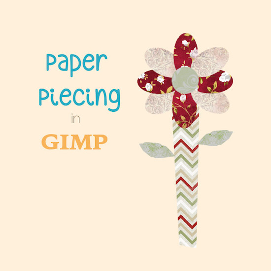 paper piecing in gimp